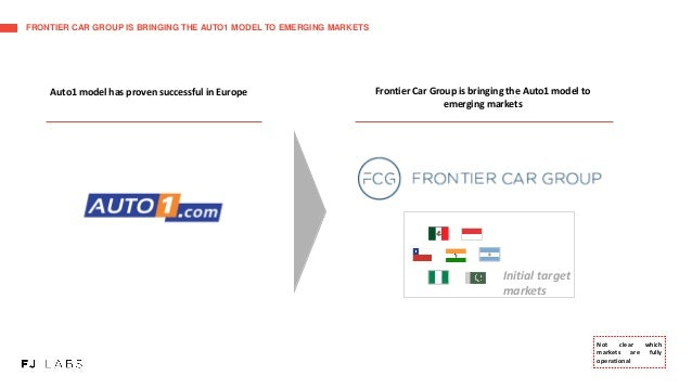 FRONTIER CAR GROUP IS BRINGING THE AUTO1 MODEL TO EMERGING MARKETS Frontier Car Group is bringing the Auto1 model to emerg...