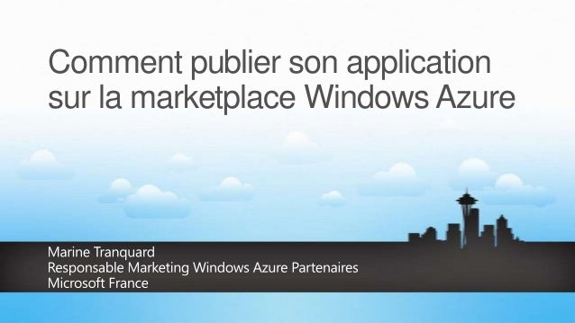 Comment publier son application sur la marketplace Windows Azure