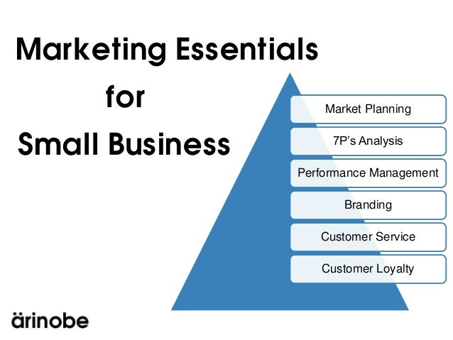 Marketing Essentials     for               Market PlanningSmall Business           7P's Analysis                  Performa...