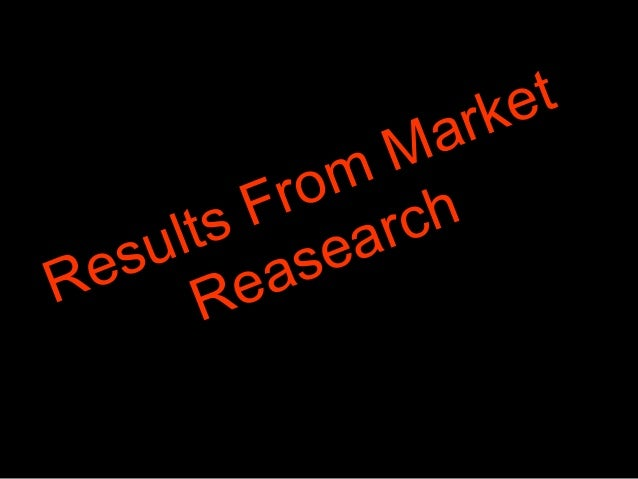 Results From Market Reasearch