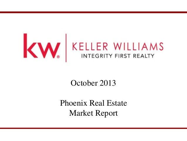 October 2013 Phoenix Market Report October 2013 Phoenix Real Estate Market Report