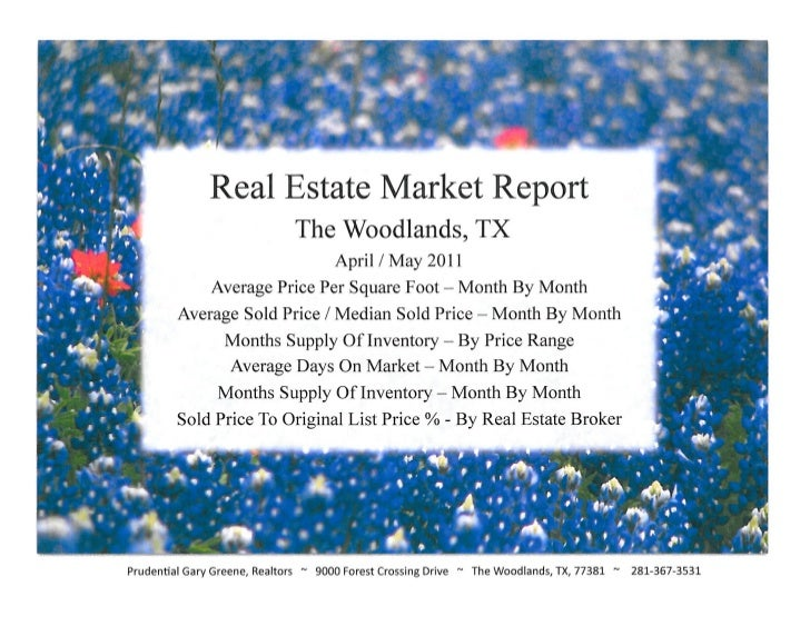April Real Estate Market Report for The Woodlands TX - by Prudential Gary Greene, Realtors