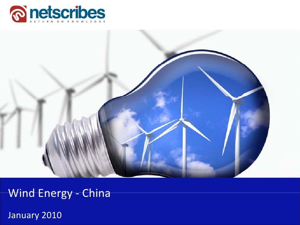 WindEnergy‐Wind Energy ChinaJanuary2010