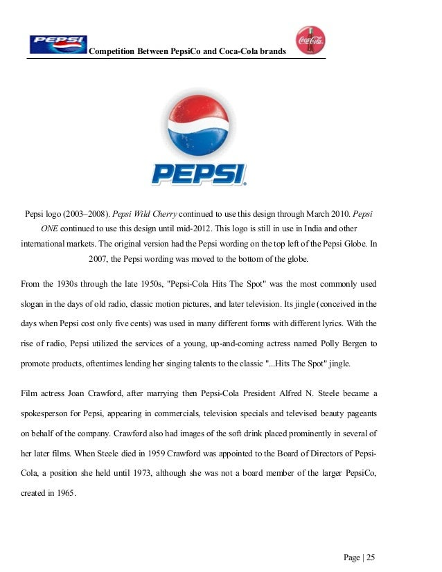 financial analysis of pepsico and coca cola 2 2 swot analysis coca -cola strengths: coca-cola has been an intricate part of american culture for over a century the product's image is laden with sentimentality, and this is an image many people have taken deeply to heart.