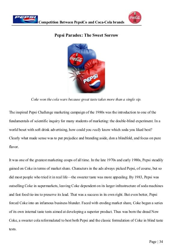 coke vs pepsi term paper