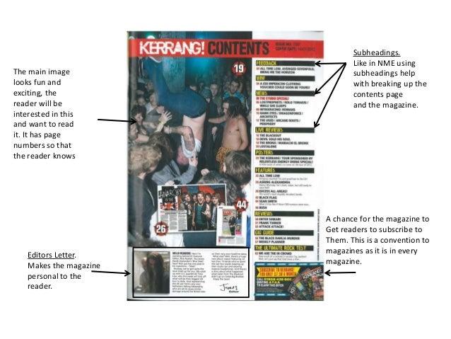 Subheadings.                                Like in NME usingThe main image                  subheadings helplooks fun and...