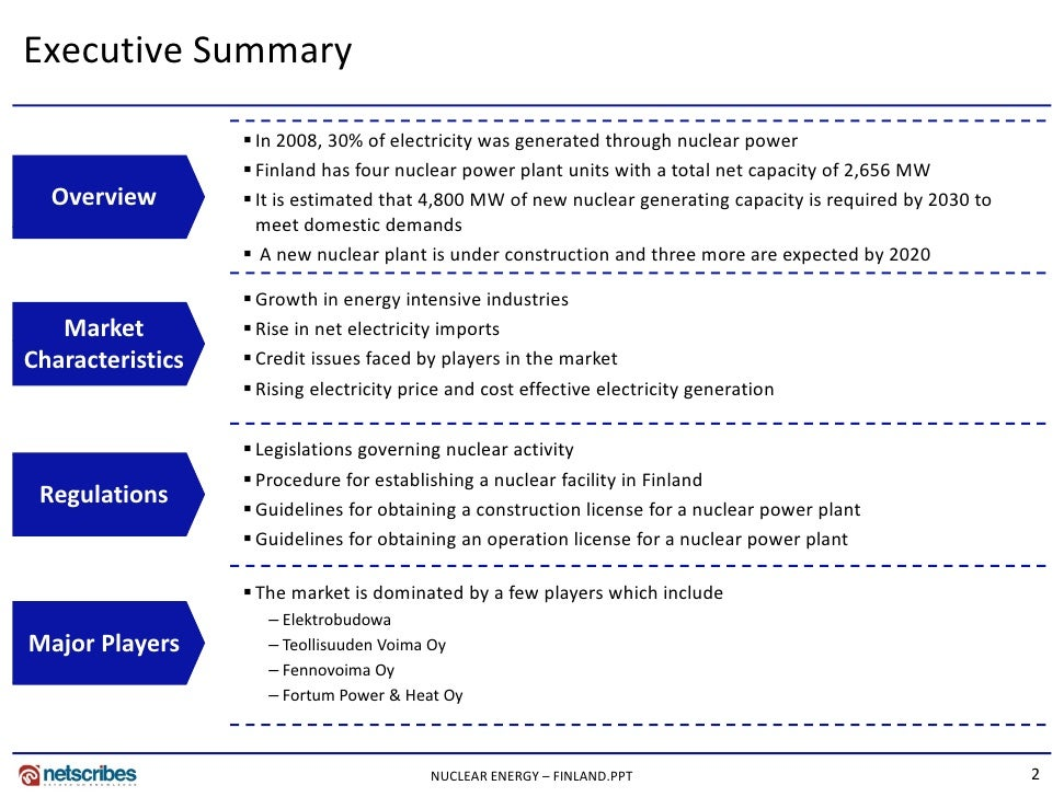 Market Research Finland - Nuclear Energy Market in Finland 2009 Slide 2