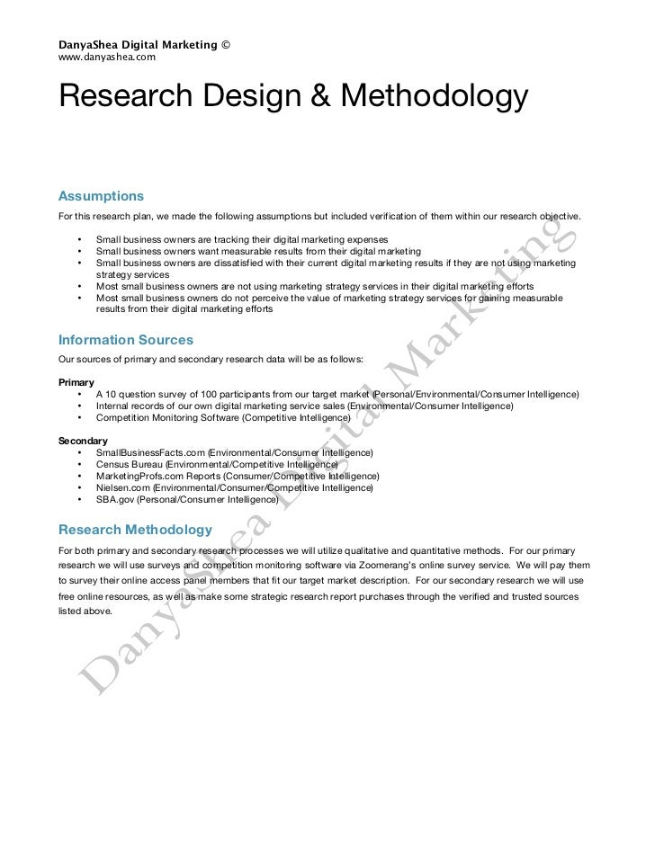 Market Research Plan Template  Plan Template
