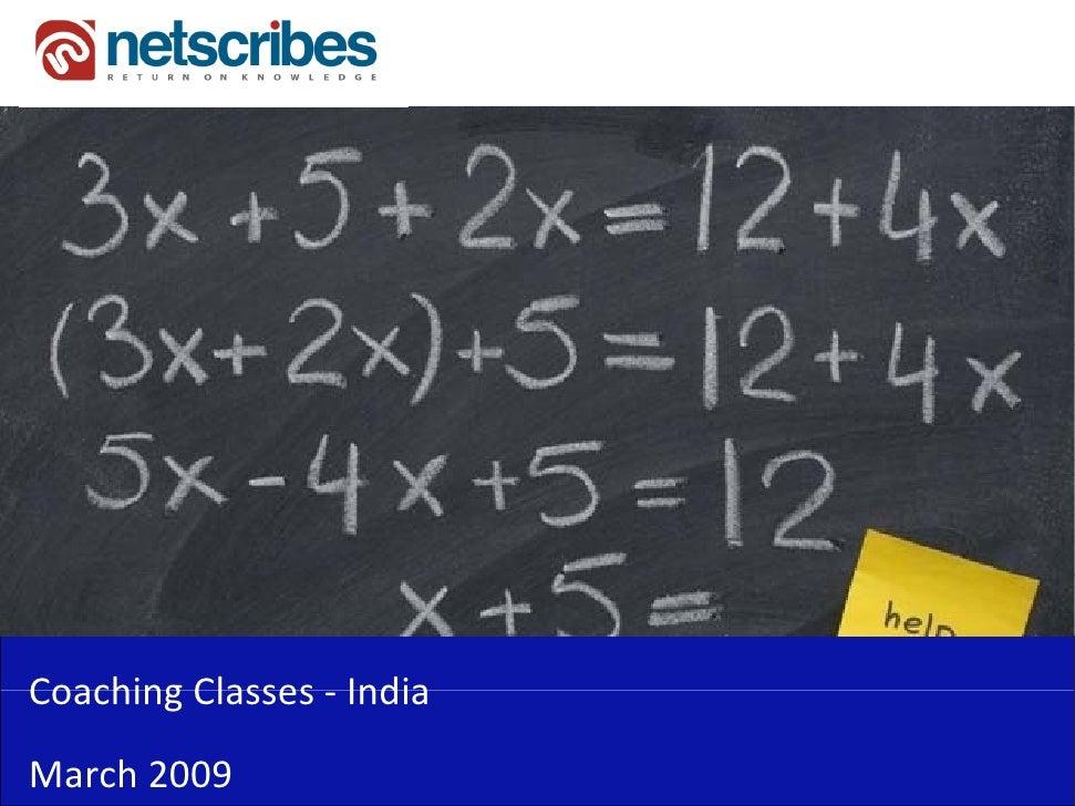 CoachingClasses‐Coaching Classes IndiaMarch2009