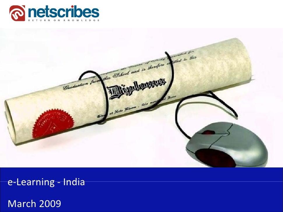 e‐Learning‐e Learning IndiaMarch2009