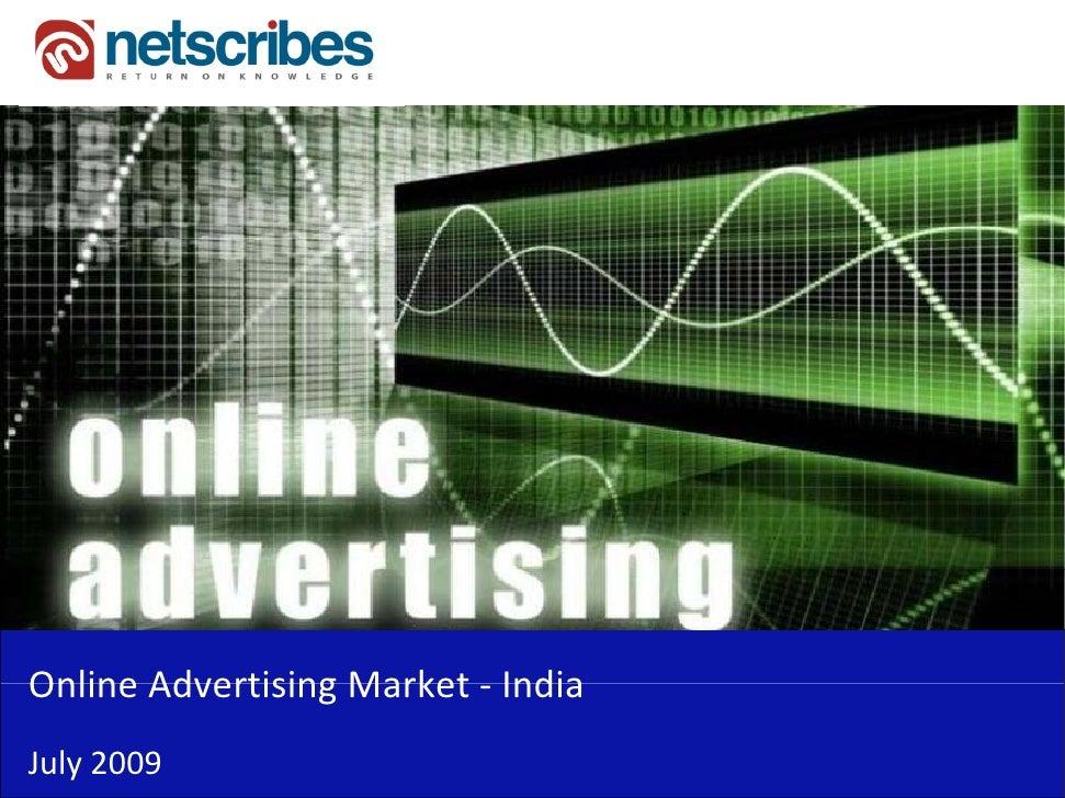 OnlineAdvertisingMarket‐Online Advertising Market IndiaJuly2009