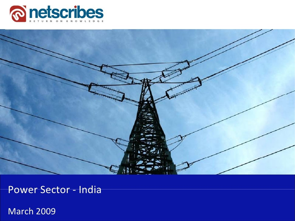 PowerSector‐Power Sector IndiaMarch2009