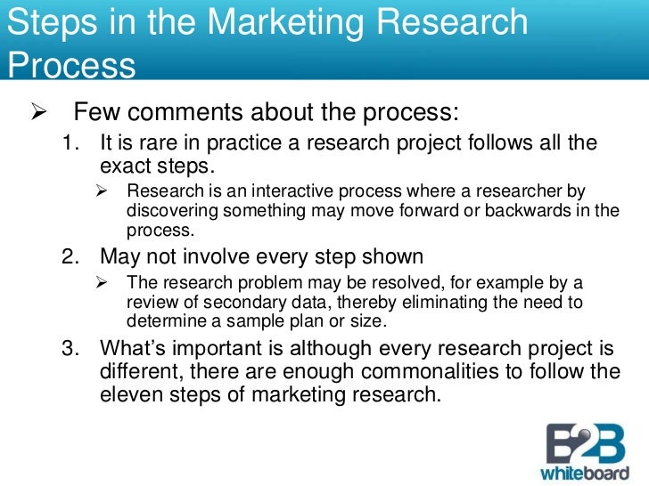 To be able to know when market research may be needed and when it may not be needed.