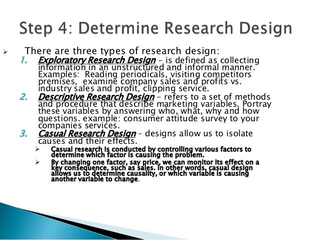 exploratory formalized and casual research designs types Exploratory research is a type of research conducted for a problem that has not been clearly defined visit: wwwb2bwhteboardcom.