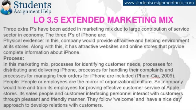 elements of the extended marketing mix marketing essay He later began teaching this term in the late 1940's the ingredients in borden's marketing mix included product planning, pricing, branding, distribution channels, personal selling, advertising, promotions, packaging, display, servicing, physical handling, and fact finding and analysis.
