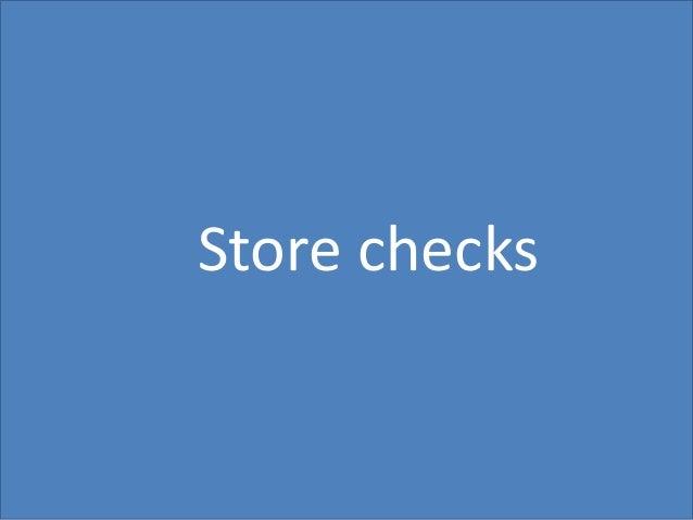 47 Store checks