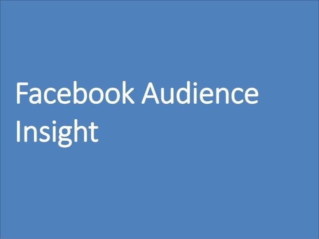 56 Facebook Audience Insight