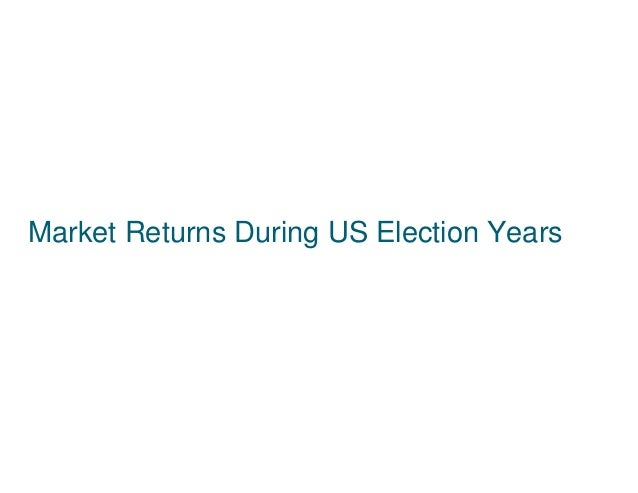 Market Returns During US Election Years