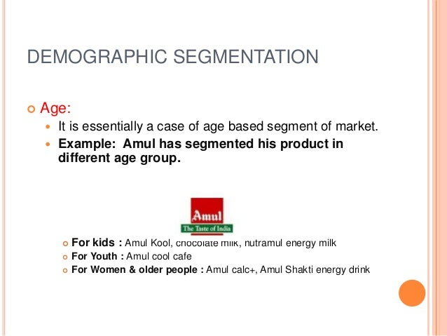 demographic market segmentations New criteria for market segmentation daniel yankelovich from the march 1964 issue understand otherwise seemingly meaningless demographic market information and apply it in scores of new and effective the point at issue is not that demographic segmentation should be disregarded.