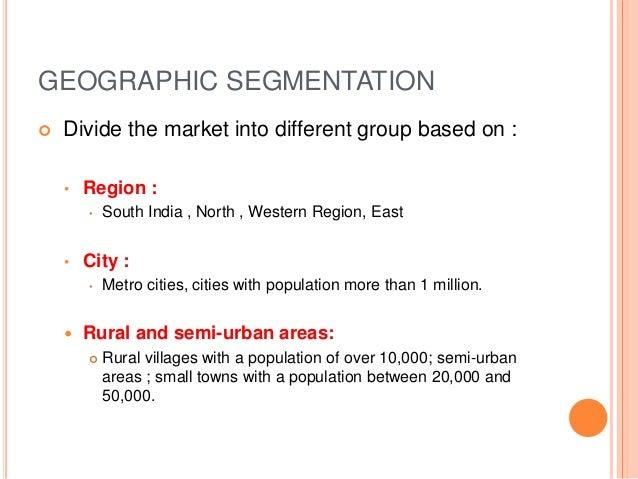 Kellogg geographic segmentation