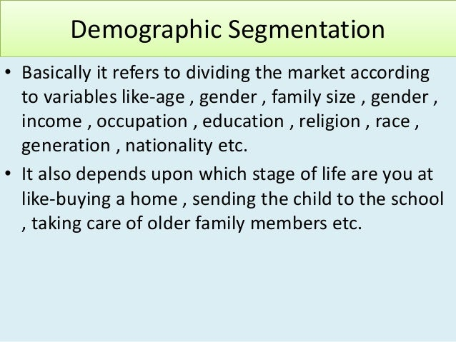 vodafone demographic segmentation The demographics and segmentation schemes of the older consumer market will be presented finally, a study will be suggested to pursue the question of whether marketers know their mature market.