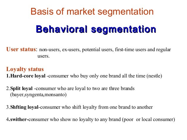 meat market segmentation Changes in demand for meat and other animal products reflect these  for meats  have strengthened the presence of this niche market segment of food retailing.