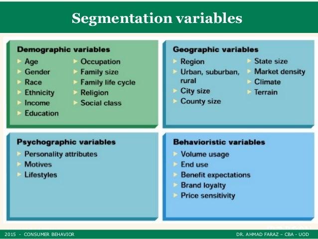 market segmentation in consumer behavior