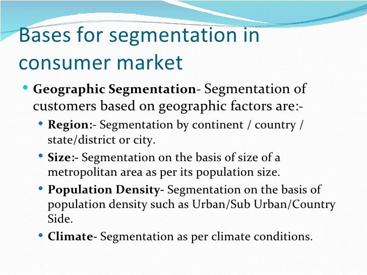 Market Segmentation Overview