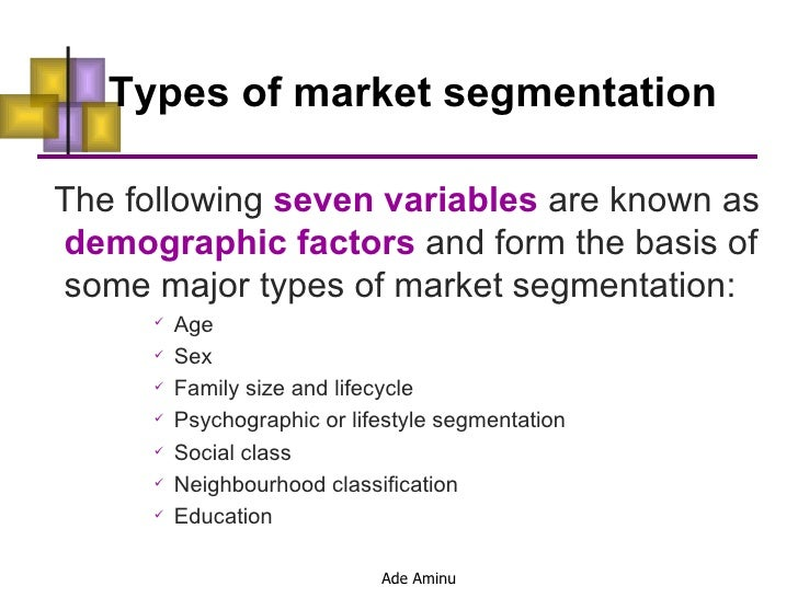 Bases of Market Segmentation
