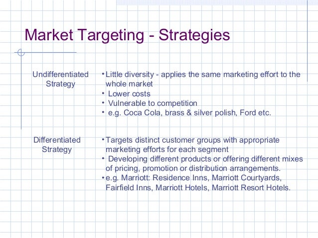 marketing strategies target markets The marketing plan should address these questions:  how the organization will  compete in the market, reach target customers,.