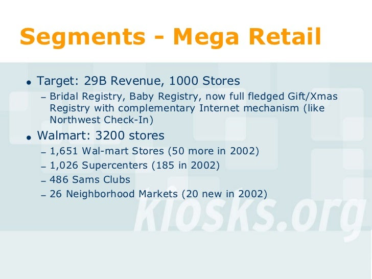 Target Gift Wedding Registry: Markets For Kiosks And Self-Service
