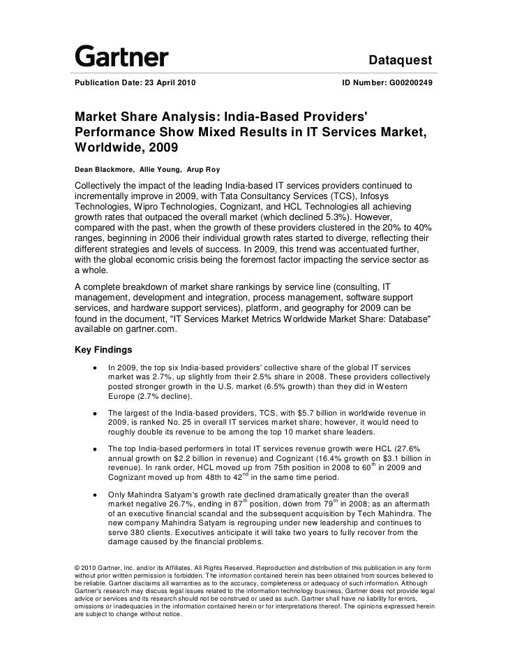 market share analysis based providers performance show mixed  dataquest publication date 23 2010
