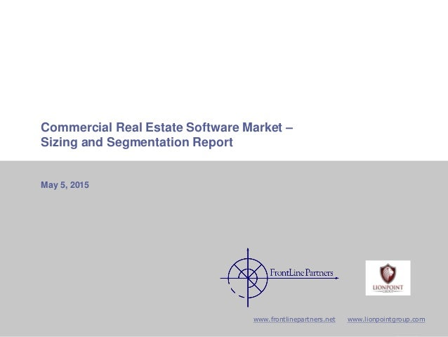 CRE Software Due Diligence Report to GI Partners 1CONFIDENTIAL AND PROPRIETARY Commercial Real Estate Software Market – Si...