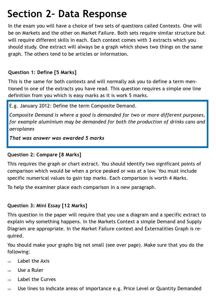 Essay On Market  Barcafontanacountryinncom Market Failure Essay Markets Market Failure Exam Question Guide