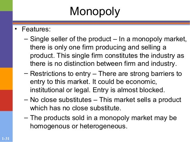 what is monopoly market structure