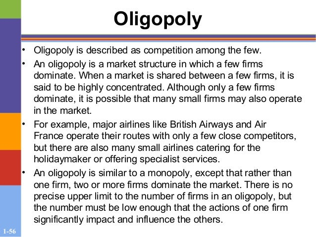 oligopoly market of british airways Deregulation and the international airline industry   privatizing british airways in  o the industry has exhibited one aspect of classic oligopoly behaviour.