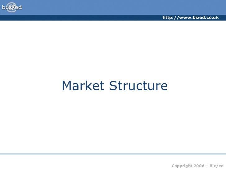 http://www.bized.co.ukMarket Structure                   Copyright 2006 – Biz/ed
