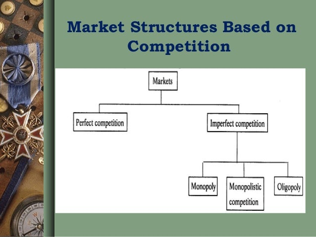 how market structures determine the pricing An industry consists of all firms making similar or identical products an industry's market structure depends on the number of firms in the industry and how they compete here are the four basic market structures: perfect competition: perfect competition happens when numerous small firms compete .
