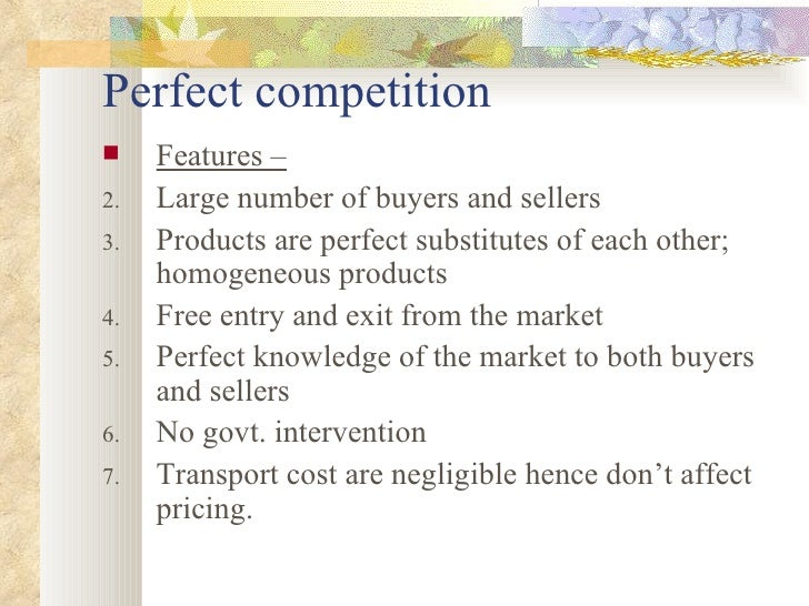 perfect competition imperfect competition essay