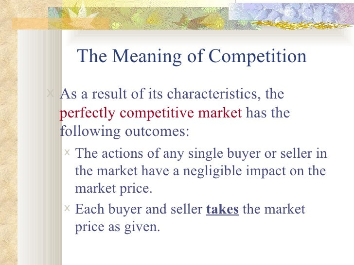 characteristics of a perfectly competitive market pdf