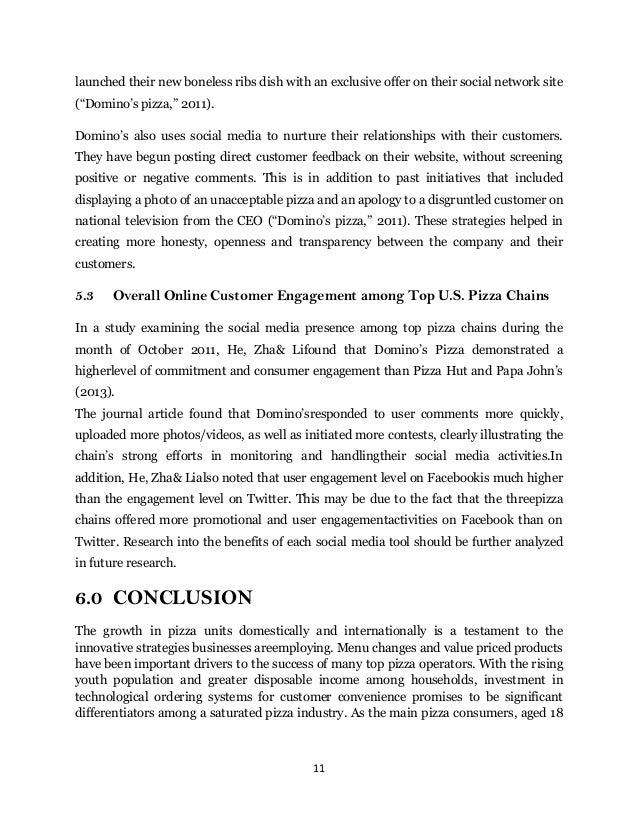 Pronto pizza analysis essay