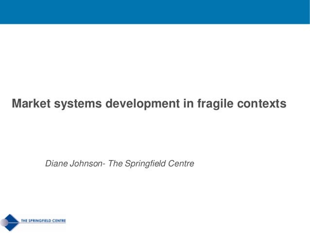 Energy Efficiency in Municipal District HeatingMarket systems development in fragile contextsDiane Johnson- The Springfiel...