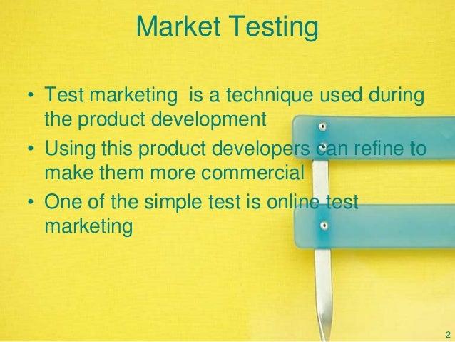 Market testing & commercilisation
