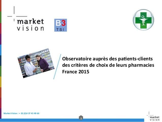 1   Market  Vision  :  +  33  (0)4  37  45  49  66     Observatoire  auprès  des  pa@ents-‐...