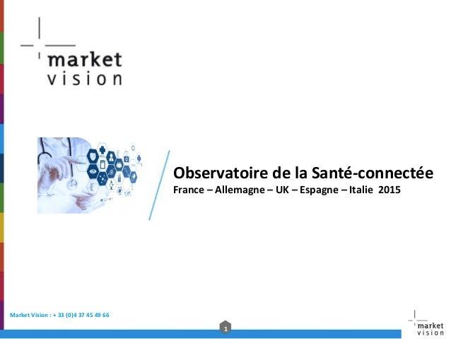 1   Market  Vision  :  +  33  (0)4  37  45  49  66     Observatoire  de  la  Santé-‐connect...