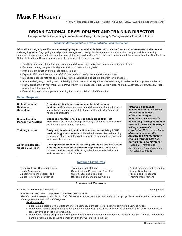 mark f hagerty od training director resume
