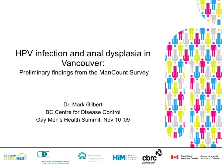 HPV infection and anal dysplasia in Vancouver:   Preliminary findings from the ManCount Survey Dr. Mark Gilbert BC Centre ...