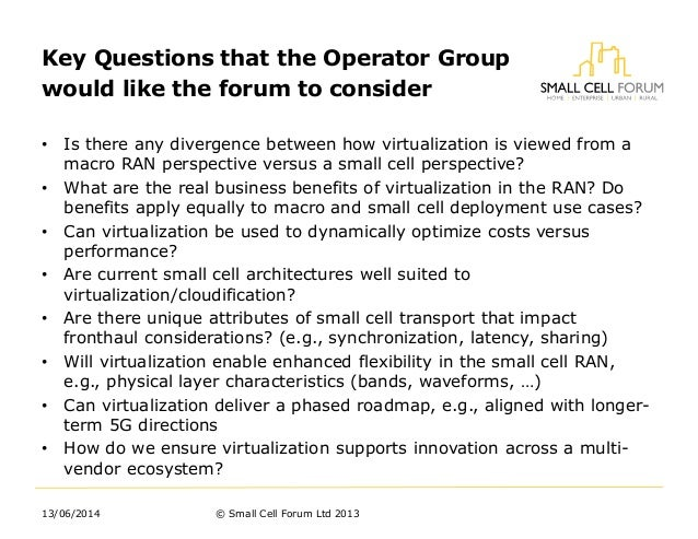 Virtualisation - A new workstream for the SCF from Mark Grayson (Cisco) Slide 3