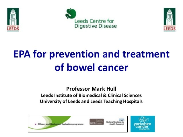 EPA trials for primary prevention of bowel cancer & metastatic diseas…