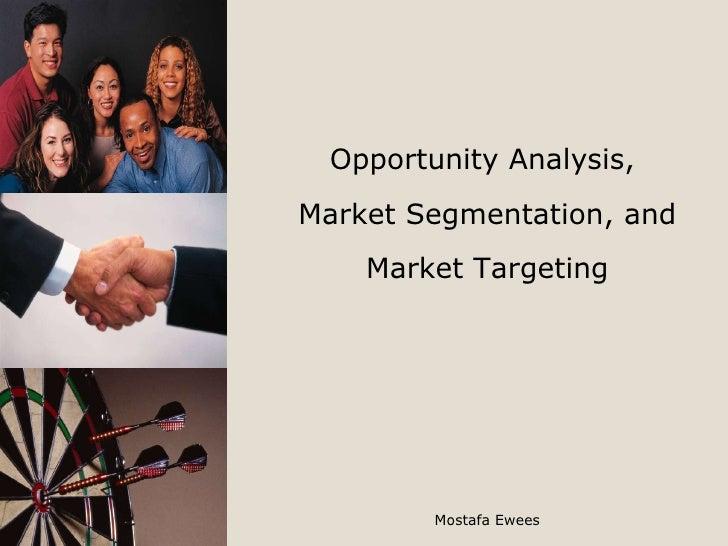 Opportunity Analysis,  Market Segmentation, and Market Targeting Mostafa Ewees
